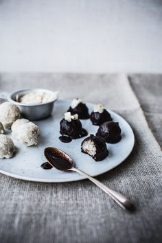 Raw Almond Joys/Mounds Bars/Bounty Balls {Vegan + Gluten Free, too}