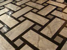 House Floor Design, Wood Floor Design, Tile Design, Granite Flooring, Wood Tile Floors, Floor Patterns, Tile Patterns, Plafond Design, Classic House Design