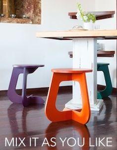 TABU color - Mix it as you like -  Combínalos como tu quieras. Taburete - Stool TABUHOME® #tabuhome #taburete #stool #mesa #sidetable #design #nordico #nordic #wood #mesilla