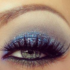 blue glitter sea