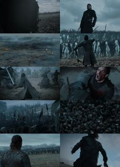 """Game of Thrones"" Battle of the Bastards (TV Episode 2016) Directed by: Miguel Sapochnik. Cinematography by: Fabian Wagner. ---- Collage by: AbdallahMKamal"