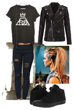 """Concert #6"" by glory-1983-rock on Polyvore featuring BLK DNM and Converse"