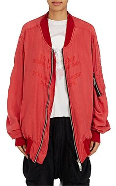 Silk-Blend Georgette Bomber Jacket from Ben Taverniti Unravel Project at Barneys New York