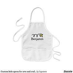 Custom kids apron for arts and crafts activities