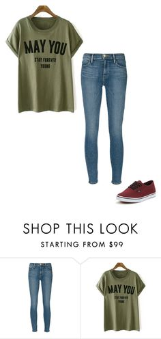 """M A Y / Y O U / S T A Y / F O R E V E R /  Y O U N G"" by ana-camila-ghost ❤ liked on Polyvore featuring Frame Denim and Vans"