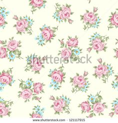 Floral seamless vintage pattern. Shabby chic rose background for you scrapbooking .