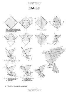 Animal Origami for the Enthusiast: Step-by-Step Instructions in Over 900 Original Models (Dover Origami Papercraft) Instruções Origami, Origami And Kirigami, Origami Dragon, Paper Crafts Origami, Origami Design, Origami Flowers, Oragami, Origami Instructions, Origami Tutorial