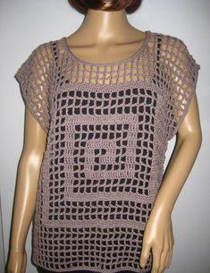 Crochet Top, Shirts, Style, Fashion, Fashion Styles, Tunic, Knitting And Crocheting, Patterns, Swag