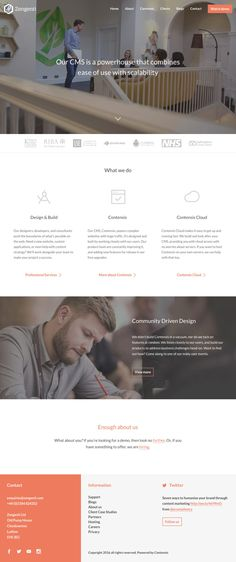 Zengenti (More web design inspiration at topdesigninspiration.com) #design #web…