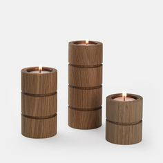 Solar Candle Holders | Wooden Candle Holders | Simply Tabletop UK