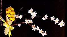 cherry blossom with paper - Cách làm hoa Anh Đào bằng giấy nhún