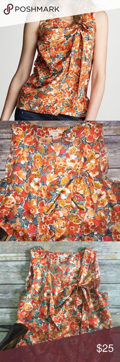 J. Crew Sleeveless Cami Size 0 MARSEILLES FLORAL J. Crew Sleeveless Cami Orange Size 0 XS Wrap Style 26995 MARSEILLES FLORAL J. Crew Tops