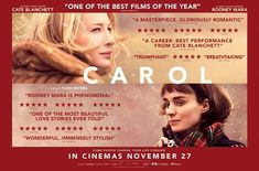 "#PicksAndPiques #Carol ***1/2A nicely nuanced unconventional love story with adapted screenplay by #Phyllis Nagy, based on the novel ""The Price of Salt"" by Patricia Highsmith #Pictureworks #AprnaKarmerkar #HardlyAnonymous #NiveditaHiggins #CateBlanchett #RooneyMara #RooneyMara #SarahPaulson #KyleChandler #JakeLacy #CoryMichaelSmith  #Phyllis Nagy #ThePriceOfSalt #PatriciaHighsmith #WeinsteinCo #Film4 #Studiocanal 118 min"