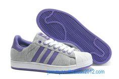 Adidas Superstar II 2 Womens 2012 Grey DarkViolet
