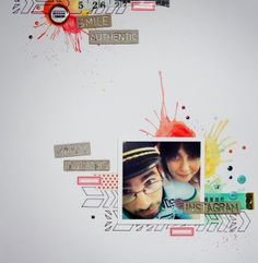 Layout by Luckie using ScrapFX chipboards.