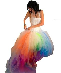 CoCoGirls 2016 Colorful Rainbow Wedding Dress Sexy Halter Hi Lo Bridal Dresses US 2 * Want additional info? Click on the image.