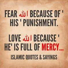 Fear of Allah, L<3ve of Allah