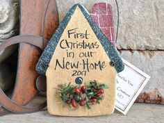 First Christmas in Our First Home / New Home Ornament / Housewarming Gift