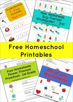 Free Homeschool Printables | The Happy Housewife