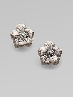 Buccellati - Blossom Sterling Silver Stud Earrings - Saks.com