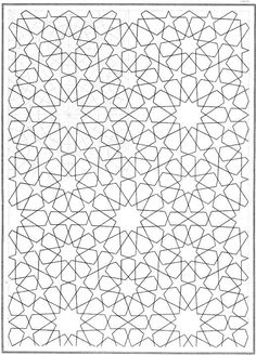 geometric coloring pages Geometric Patterns, Islamic Patterns, Geometric Designs, Repeating Patterns, Textures Patterns, Geometric Shapes, Geometric Coloring Pages, Shape Coloring Pages, Pattern Coloring Pages