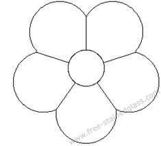 round petal flower stained glass