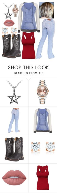 """""""Hook man"""" by renee-love on Polyvore featuring Rolex, Bullet, maurices, Durango, Tiffany & Co. and Lime Crime"""