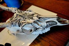 Buck Skull Paint 2 by soulstrifer on deviantART