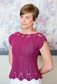 Pretty and delicate, this crocheted top is perfect for spring!  Designer:Lisa Gentry