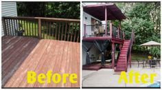 Deck Design Tip: Just a simple fresh coat of paint can liven up your deck!   Check out these before and after photos for more inspiration:   http://www.diynetwork.com/outdoors/before-and-after-makeovers-outdoor-spaces/pictures/index.html