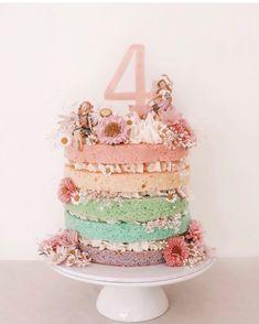 Pretty Cakes, Cute Cakes, Beautiful Cakes, Amazing Cakes, Fairy Garden Cake, Garden Cakes, Fairy Cakes, Fairy Birthday Cake, 4th Birthday