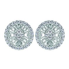 Gabriel 0.37 Carat Round Diamond Halo 14K White Gold Earrings Featurin · EG11682W45JJ · Ben Garelick Jewelers