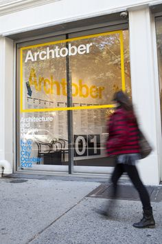 Pentagram has designed the identity and graphics for Archtober in New York.   Pentagram