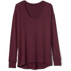 Softspun dolman tunic ($27) ❤ liked on Polyvore featuring tops, tunics, dolman tunic, purple tunic, purple top and dolman top