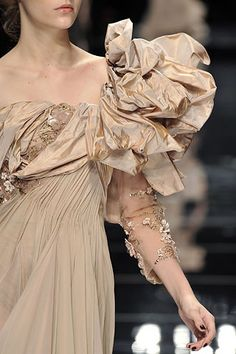 Elie Saab Fall 2008 Couture Fashion Show Couture Details, Fashion Details, Christian Dior, High Fashion, Fashion Show, Great Gatsby Fashion, Elie Saab Fall, Elie Saab Couture, Glamour