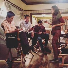 When you're filming #Grimm but the Olympics are on @nbctv... 📷: @ClaireCoffee