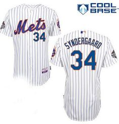 Noah Syndegaard New York Mets Cool Base White /Pinstripes Jersey