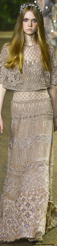 The upper half of this would work as a top. The bottom half is not my style - Elie Saab Couture Spring 2016