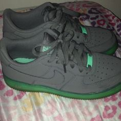 Glow in the dark nikes Wore a couple times super cute though Nike Shoes Sneakers