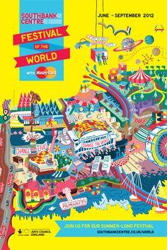 Southbank Festival Map