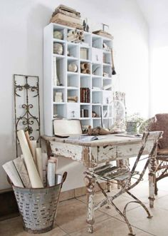 #Shabby #Chic #Office creative ideas for your renovation project - Jeanne d`Arc Living http://www.myshabbychicstore.com
