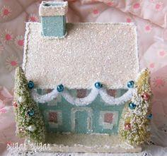 aqua snow cottage  putz