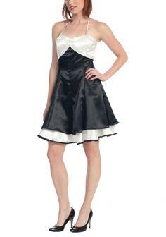 black white prom dresses