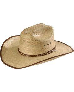 f89017fd9f6 Resistol Brush Hog Mexican Palm Straw Cowboy Hat