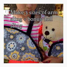 Arm Sling Cast Cover Sewing Pattern Three Sizes by adesignbyangie Kids Arm Sling, Sewing For Kids, Diy For Kids, Kids Cast, Arm Cast, Bear Doll, Letter Size Paper, Sewing Projects, Sewing Ideas