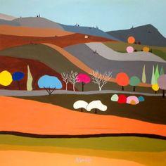 ARTFINDER: The pop road by ALEJOS Lorenzo Vergara - The pop road, 100 x 100 cm, $1117