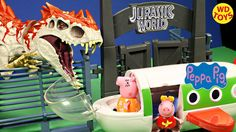 New Peppa Pig Holiday Plane Vs Hybrid Rampage Indominus Rex Jurassic Wor...