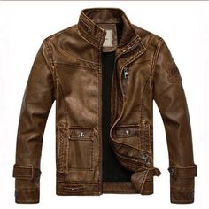 Find More Leather & Suede Information about Free shipping New 2013 Men fashion high quality genuine leather jacket shoulder board winter outdoor jacket coat co…