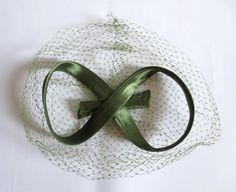 Vintage 1950s Green Bow Hat