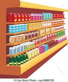 Supermarket Cartoon | Stuff to Buy | Pinterest | Cartoon and Art ...
